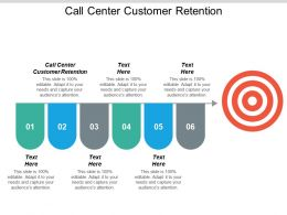 Call Center Customer Retention Ppt Powerpoint Presentation Icon Diagrams Cpb