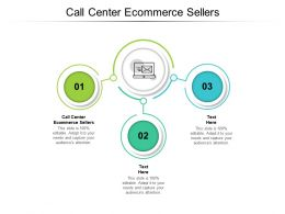 Call Center Ecommerce Sellers Ppt Powerpoint Presentation Show Designs Cpb