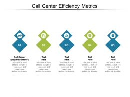 Call Center Efficiency Metrics Ppt Powerpoint Presentation Pictures Portfolio Cpb