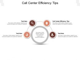Call Center Efficiency Tips Ppt Powerpoint Presentation Summary Slides Cpb