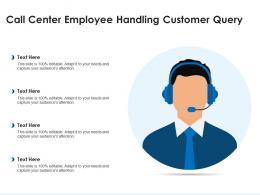 Call Center Employee Handling Customer Query
