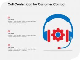 Call Center Icon For Customer Contact
