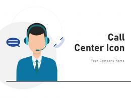 Call Center Icon Process Employee Customer Headphone Operation