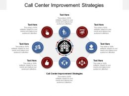 Call Center Improvement Strategies Ppt Powerpoint Presentation Gallery Aids Cpb
