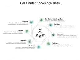 Call Center Knowledge Base Ppt Powerpoint Presentation Inspiration Infographic Template Cpb