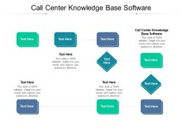 Call Center Knowledge Base Software Ppt Powerpoint Presentation Ideas Graphics Example Cpb