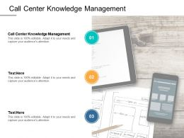 Call Center Knowledge Management Ppt Powerpoint Presentation Summary Show Cpb