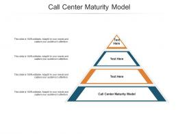 Call Center Maturity Model Ppt Powerpoint Presentation Infographics Graphic Tips Cpb