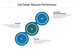 Call Center Measure Performance Ppt Powerpoint Presentation Icon Inspiration Cpb