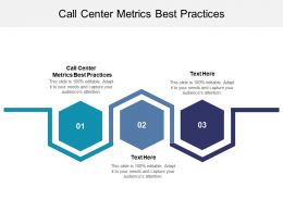 Call Center Metrics Best Practices Ppt Powerpoint Presentation Gallery Layout Ideas Cpb