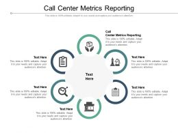 Call Center Metrics Reporting Ppt Powerpoint Presentation Show Visual Aids Cpb
