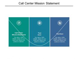 Call Center Mission Statement Ppt Powerpoint Presentation Show Example File Cpb