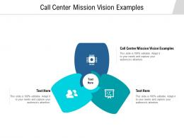 Call Center Mission Vision Examples Ppt Powerpoint Presentation Summary Picture Cpb