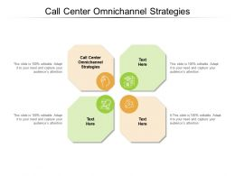 Call Center Omnichannel Strategies Ppt Powerpoint Presentation Model Cpb