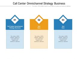 Call Center Omnichannel Strategy Business Ppt Powerpoint Presentation Styles Sample Cpb