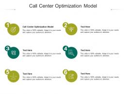 Call Center Optimization Model Ppt Powerpoint Presentation Infographic Template Vector Cpb