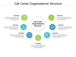 Call Center Organizational Structure Ppt Powerpoint Presentation Outline Deck Cpb