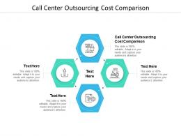 Call Center Outsourcing Cost Comparison Ppt Powerpoint Presentation Inspiration Example Cpb