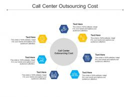 Call Center Outsourcing Cost Ppt Powerpoint Presentation Gallery Summary Cpb