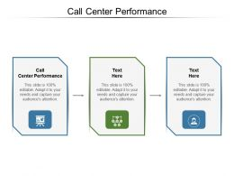 Call Center Performance Ppt Powerpoint Presentation Infographic Template Graphic Tips Cpb