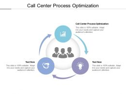 Call Center Process Optimization Ppt Powerpoint Presentation File Outline Cpb