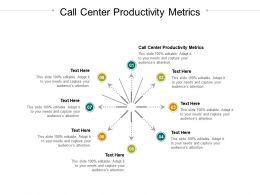 Call Center Productivity Metrics Ppt Powerpoint Presentation Graphics Cpb
