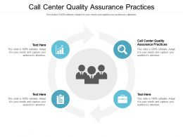 Call Center Quality Assurance Practices Ppt Powerpoint Presentation Slides Cpb