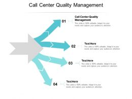 Call Center Quality Management Ppt Powerpoint Presentation Professional Design Ideas Cpb