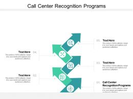 Call Center Recognition Programs Ppt Powerpoint Presentation Infographics Elements Cpb