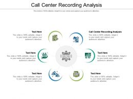 Call Center Recording Analysis Ppt Powerpoint Presentation Outline Template Cpb