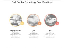 Call Center Recruiting Best Practices Ppt Powerpoint Presentation Pictures Objects Cpb