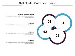Call Center Software Service Ppt Powerpoint Presentation Outline Show Cpb