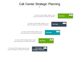Call Center Strategic Planning Ppt Powerpoint Presentation Outline Layout Cpb