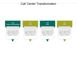 Call Center Transformation Ppt Powerpoint Presentation Professional Inspiration Cpb