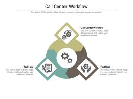 Call Center Workflow Ppt Powerpoint Presentation Show Visuals Cpb