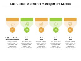 Call Center Workforce Management Metrics Ppt Powerpoint Presentation Inspiration Cpb