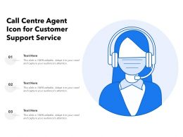 Call Centre Agent Icon For Customer Support Service