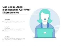 Call Centre Agent Icon Handling Customer Discrepancies