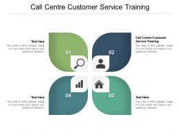 Call Centre Customer Service Training Ppt Powerpoint Presentation Show Format Cpb