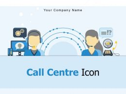 Call Centre Icon Customer Online Support Multiple Chat Bubble Microphone