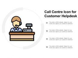 Call Centre Icon For Customer Helpdesk