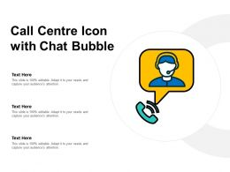 Call Centre Icon With Chat Bubble
