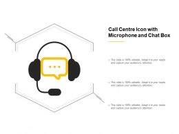 Call Centre Icon With Microphone And Chat Box