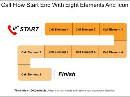 Call Flow Start End With Eight Elements And Icon
