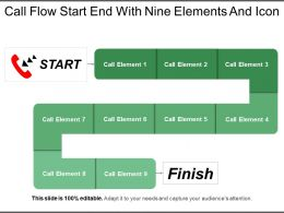 Call Flow Start End With Nine Elements And Icon
