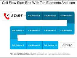 Call Flow Start End With Ten Elements And Icon
