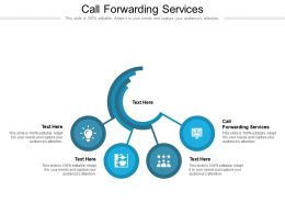 Call Forwarding Services Ppt Powerpoint Presentation Icon Model Cpb