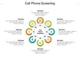 Call Phone Screening Ppt Powerpoint Presentation Ideas Aids Cpb