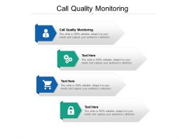 Call Quality Monitoring Ppt Powerpoint Presentation Infographics Shapes Cpb