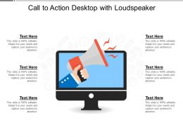 Call To Action Desktop With Loudspeaker